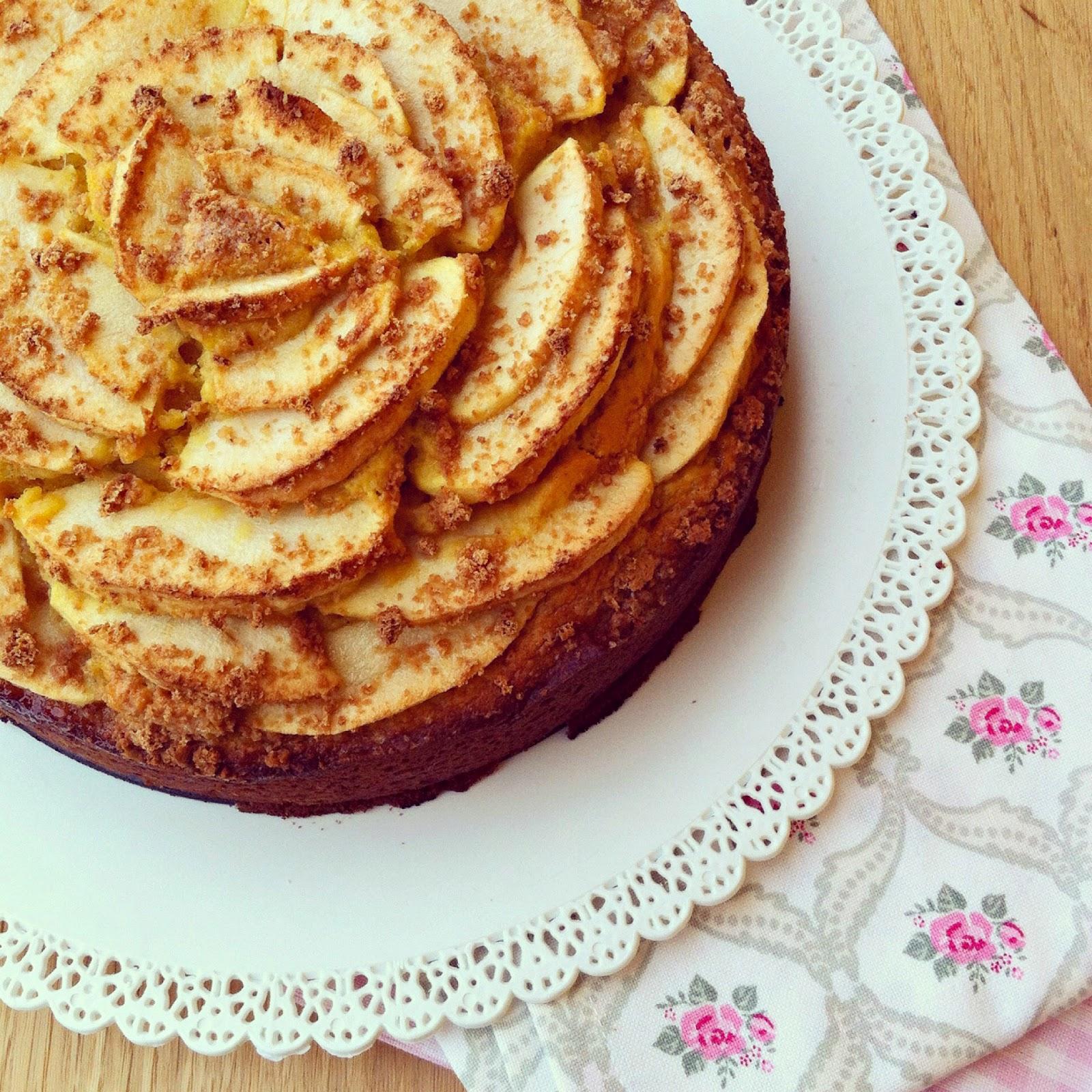 Torta di mele, amaretti e ricotta con farina di kamut 2