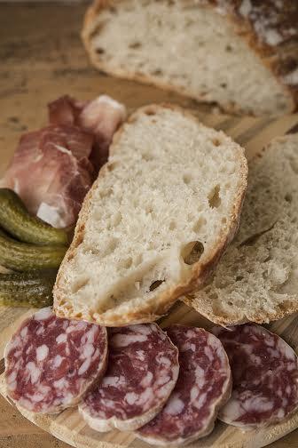 pane senza impasto fetta