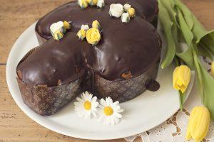 Colomba pasquale al cioccolato con lievito madre