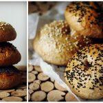 Bagel integrali con semi di sesamo e papavero